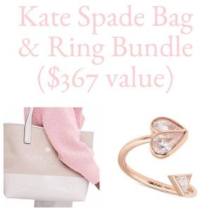 Rare Kate Spade Ring & Tote Bundle